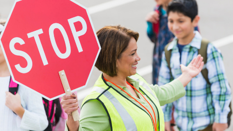 A stock image of a crossing guard.