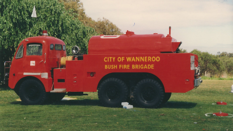 A photograph of the Thornycroft Fire Truck during operation.