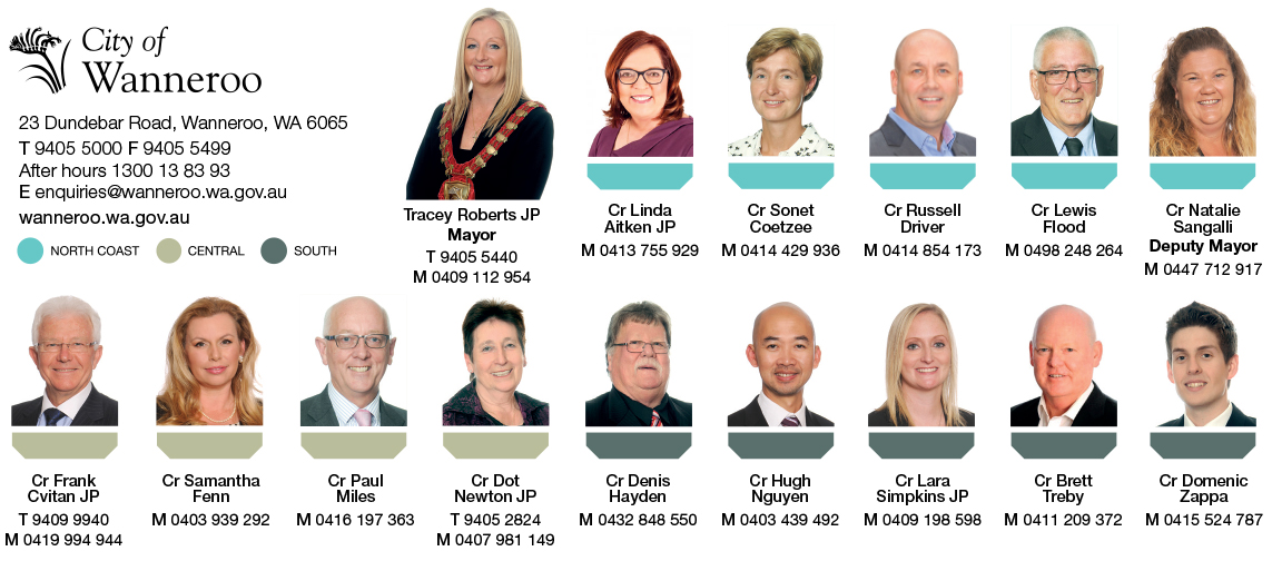 City of Wanneroo Councillors 2017