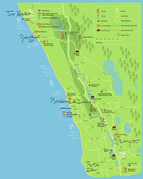 Explore Wanneroo map