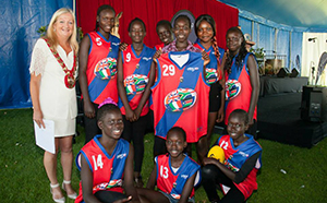 Butler Falcons with Mayor Tracey Roberts