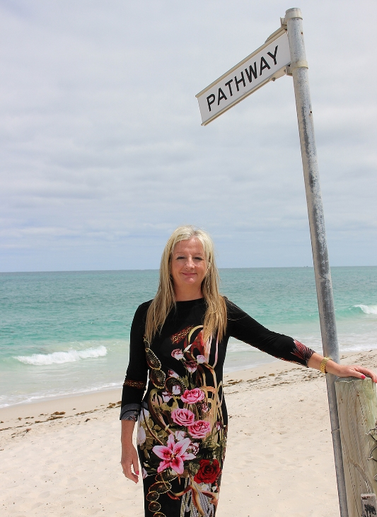 Mayor Tracey Roberts at Quinns Beach