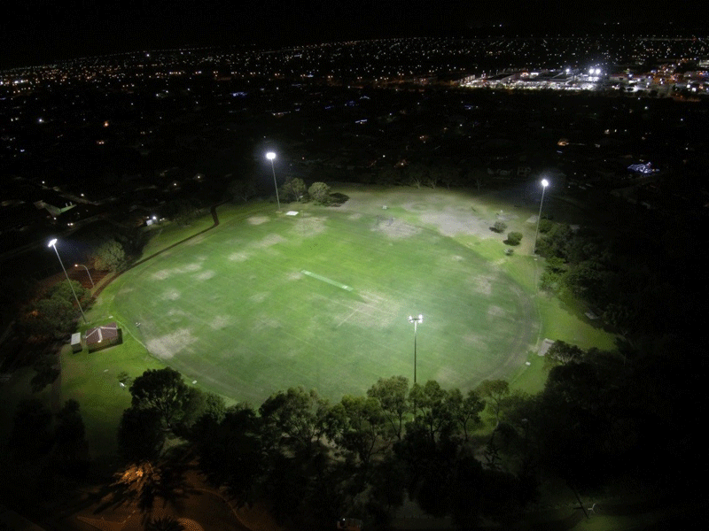 Abbeville Park floodlighting