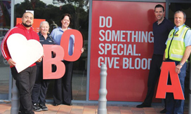 Wanneroo staff donating blood