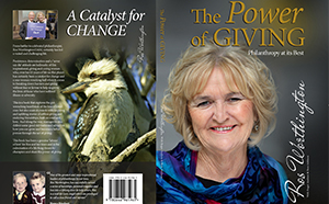 Book cover - Ros Worthington's The Power of Giving