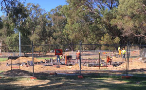 Edgar Griffiths Park construction