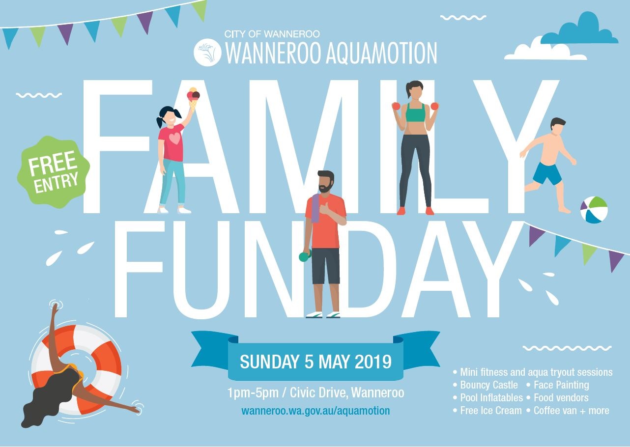 Aquamotion's Family Fun Day will be held on Sunday 5 May.
