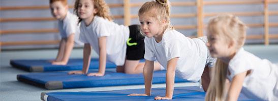 Children doing gymnastics