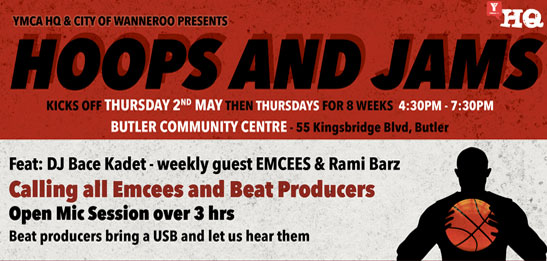 Hoops and Jams event