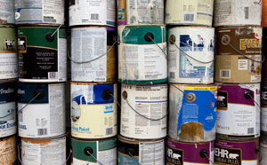 Tins of old paint