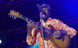 Jimmy Cliff with guitar