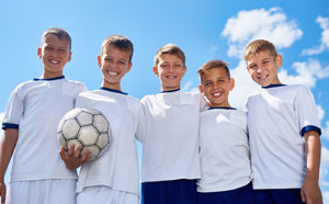 Junior soccer players