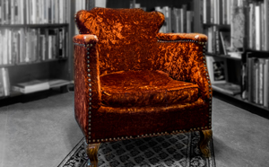 Chair in a library