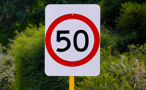 50km/hr speed sign