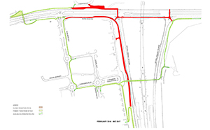 Mitchell Freeway Path closures clarkson train station