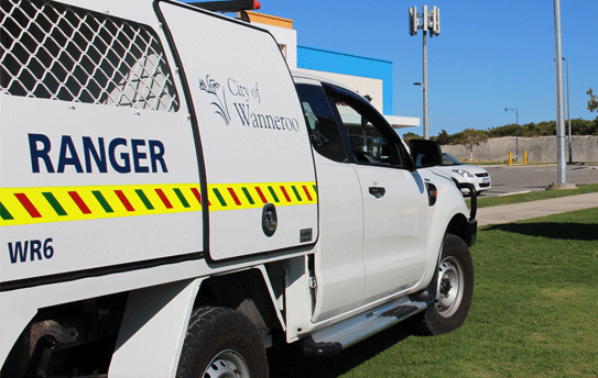 City Ranger's van