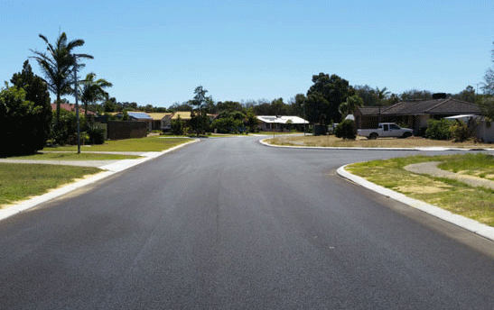 Renewed road surface
