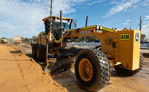 Road grader on Wanneroo Road