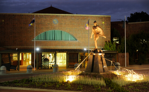 City of Wanneroo Civic Centre Outside at Night