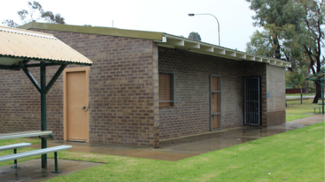 The existing clubrooms at Montrose Park, Girrawheen.