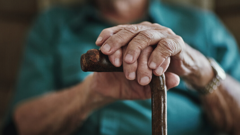 Stock image of old hands