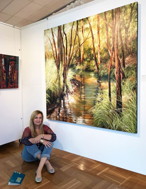 Janey Emery and artwork