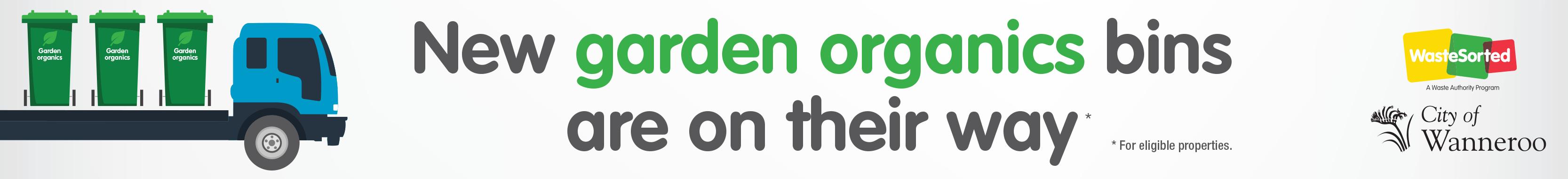 Banner for garden organics bins