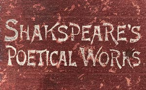 Book titled Shakspeare's Poetical Works
