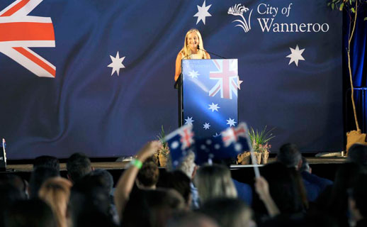 Mayor Tracey Roberts at Citizenship Ceremony