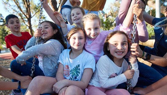 Group of children at playground