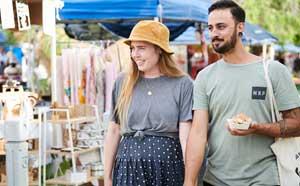 Couple at markets