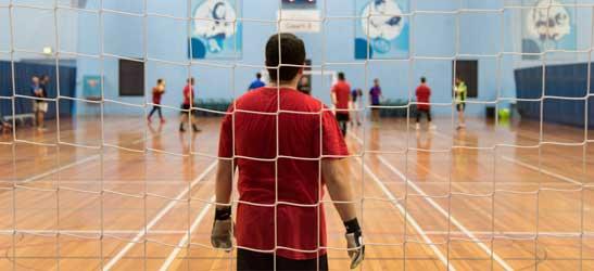 People playing futsal