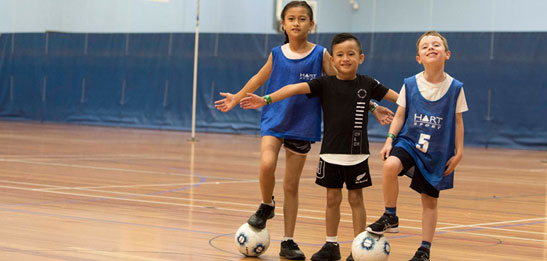 Children playing at Kingsway Indoor Stadium