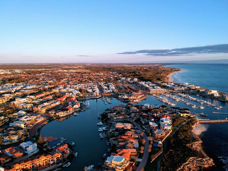 James Fulton - Aerial view of Mindarie Marina