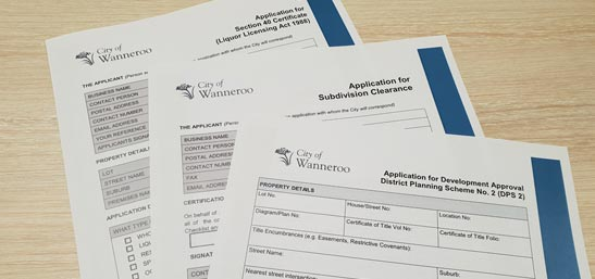 Planning application forms