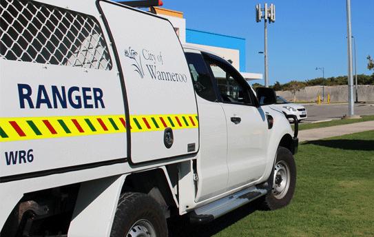 City Ranger's van