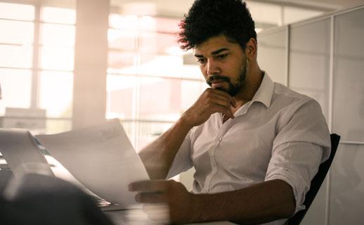 Man reading document
