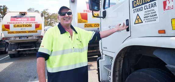 Waste truck driver