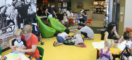 Group of children in Museum activities