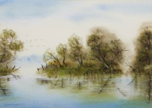 Lake Joondalup 1, Jean Simpson. Acquired 1994, Pastels